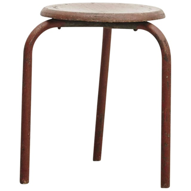 Stool Attributed to Jean Prouvé, circa 1950 - Image 1 of 6