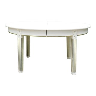 1940s White Belle Dining Table For Sale