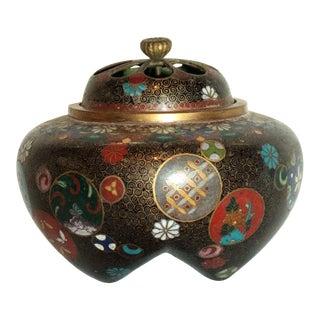 Mid 19th Century Japanese Cloisonne Incense Burner For Sale