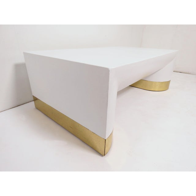 Metal Lacquered Linen Jay Spectre for Century Furniture Coffee Table, Circa 1970s For Sale - Image 7 of 11