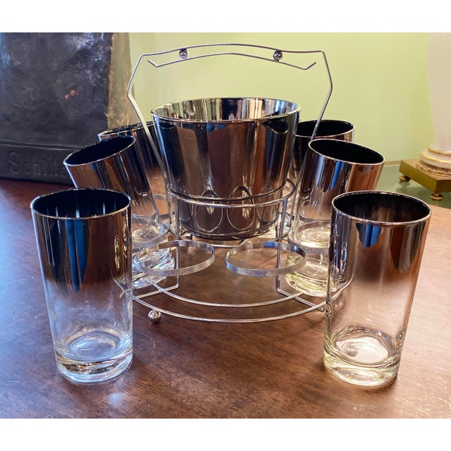 Dorothy Thorpe Mid 20th Century Dorothy Thorpe Glassware Set - Set of 10 For Sale - Image 4 of 9