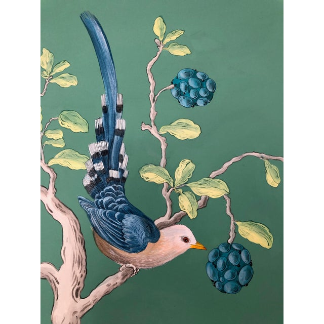 Contemporary The Arrival Contemporary Bird Botanic Painting For Sale - Image 3 of 12