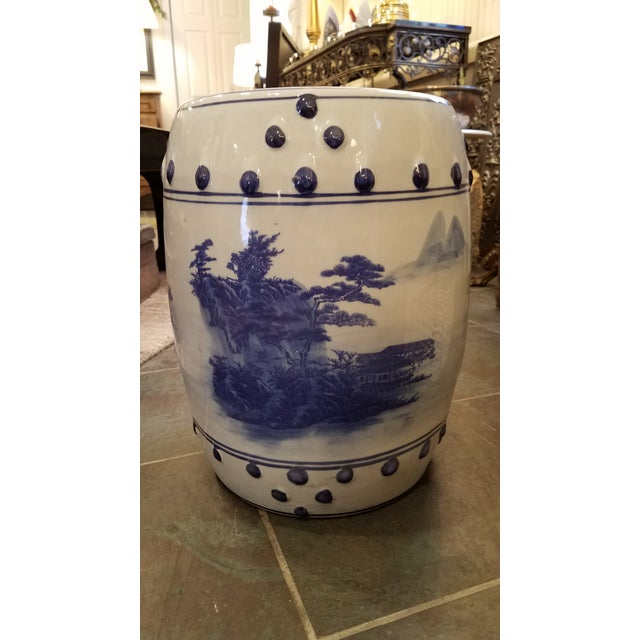 "Beautiful Chinese Porcelain Garden Seat to add a touch of Asian flair to your home. Standing 16"" tall, this piece is a..."
