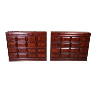 Mid 19th Century Restored Mahogany Empire Apothecary Chests - A Pair