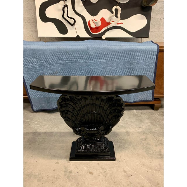 1950s French Grosfeld House Gesso Shell Console Table For Sale - Image 13 of 13