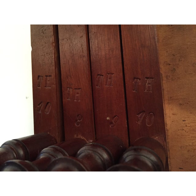 1820s English Walnut Nesting Tables, Signed - 4 For Sale - Image 4 of 11