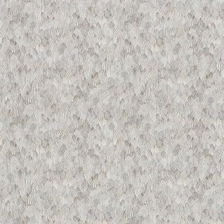 Sample - Schumacher Feathers Wallpaper in Zebra For Sale