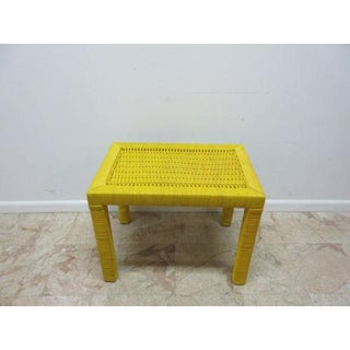 Drexel Yellow Wicker Side Table Preview