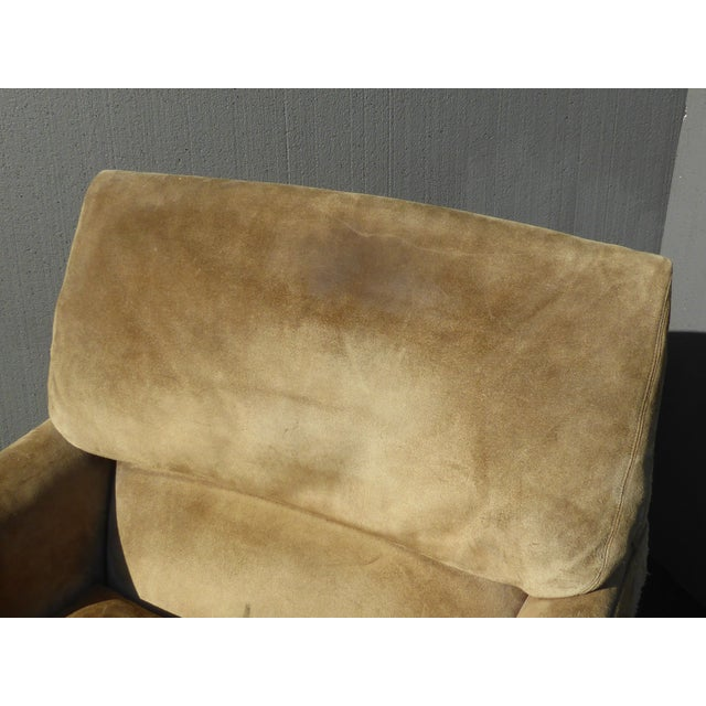 Vintage Marge Carson Mid-Century Modern Tan Suede Accent Chairs - a Pair For Sale In Los Angeles - Image 6 of 13