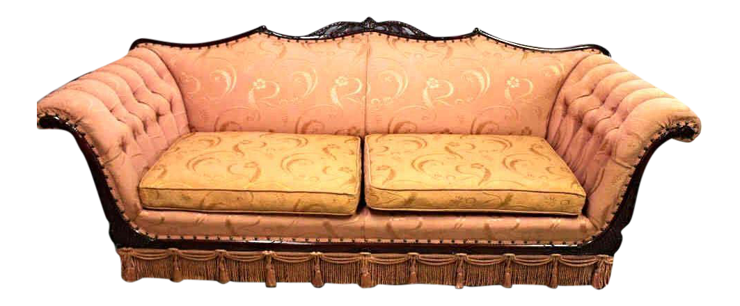 Mid Century Upholstered Sofa