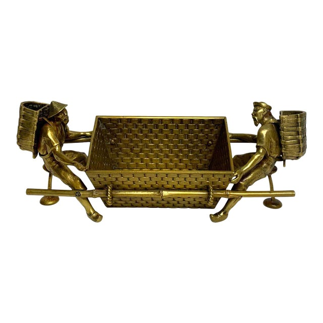 19th Century French Chinoiserie Ormolu Caddy For Sale