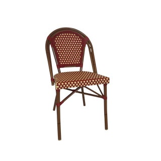 Red & Cream Color Café Bistro Chair