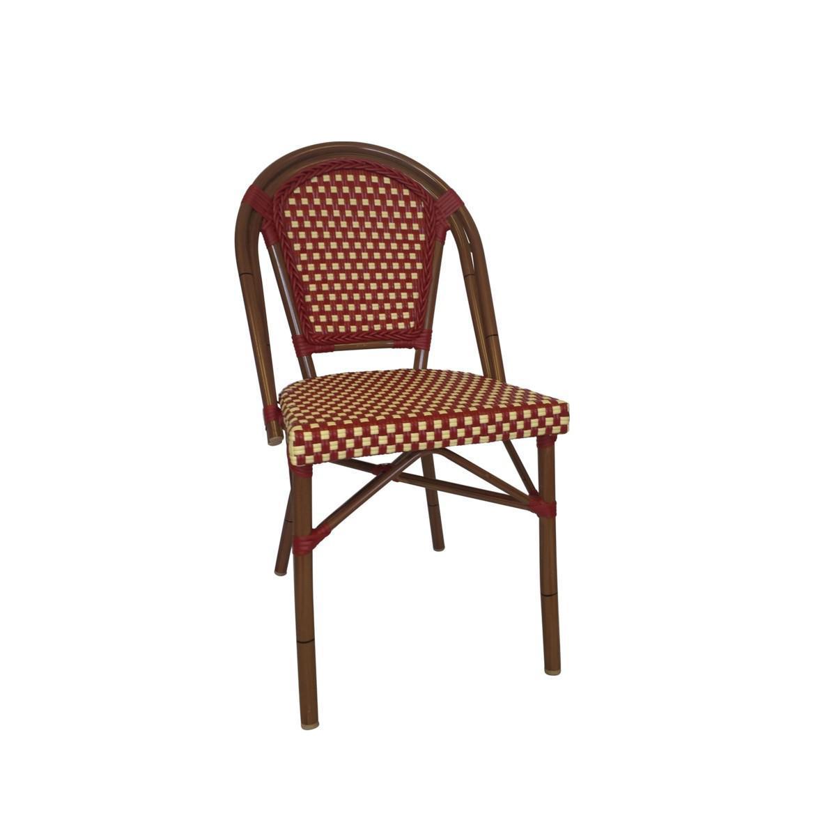 Red U0026 Cream Color Café Bistro Chair