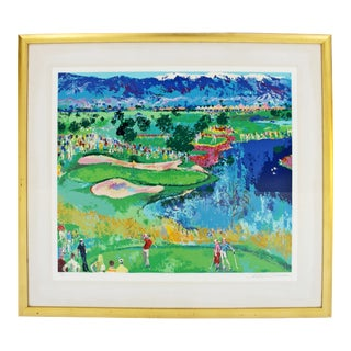 Contemporary Modern Framed the Cove at Vintage Serigraph by Leroy Neiman 356/375 For Sale