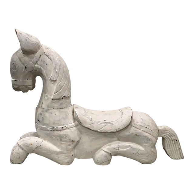 20th Century Folk Art Horse Sculpture For Sale