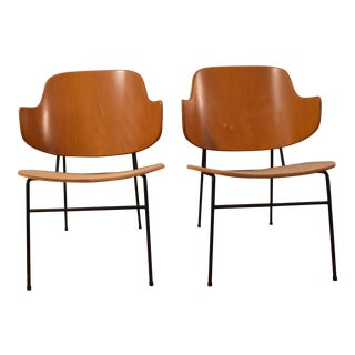 Vintage Mid Century Lb Kofod Larsen Penguin Chairs- A Pair For Sale