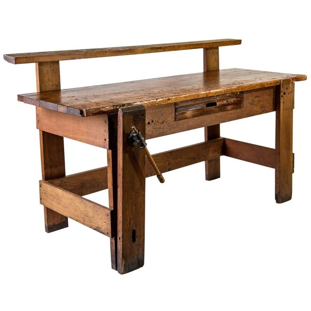 Rustic Carpenter's Workbench Sideboard For Sale - Image 13 of 13