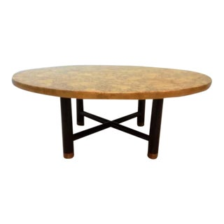 Vintage Henredon Black & Gold Coffee Table For Sale