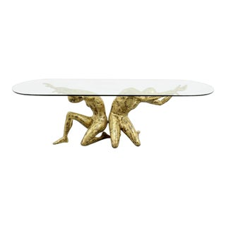 20th Century Brutalist Jacques Duval Brasseur Sculptural Dining Table For Sale