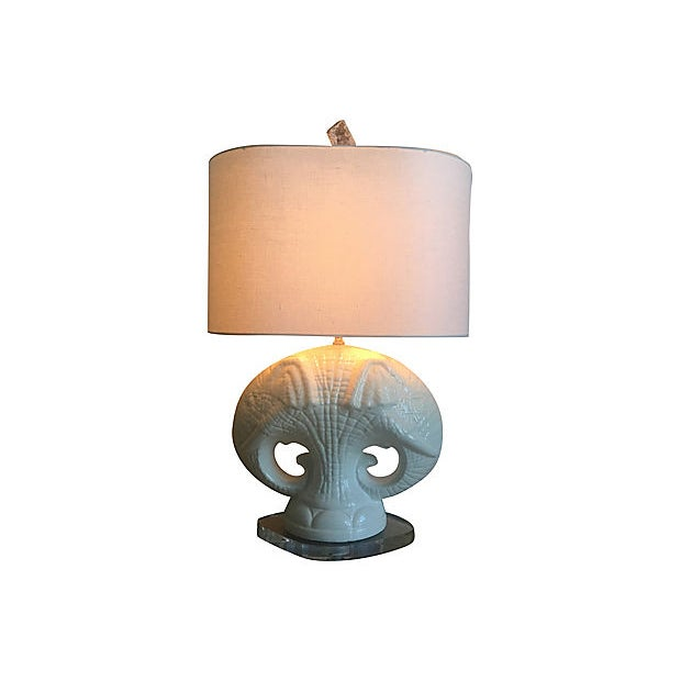 1950s Italian Elephants Lamp & Shade For Sale - Image 5 of 13