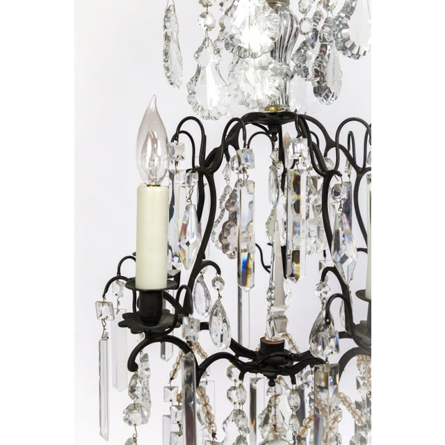 Multi Crystal Birdcage Chandeliers - a Pair For Sale - Image 9 of 13