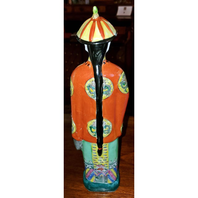 Vintage Chinese Ceramic Noblemen - a Pair For Sale In Dallas - Image 6 of 11