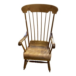 Vintage Refinished Rocking Chair For Sale