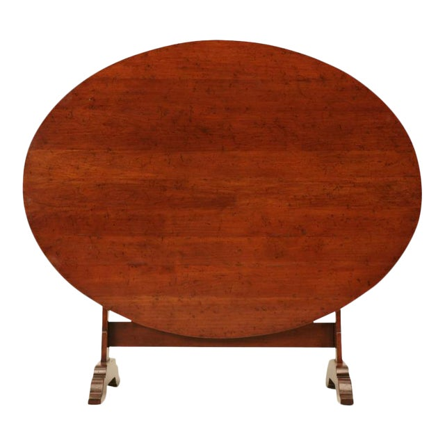 French Cherry Tilt-Top Wine Table Reproduction For Sale