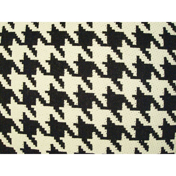 Black and White Houndstooth Down Pillow - Image 3 of 3