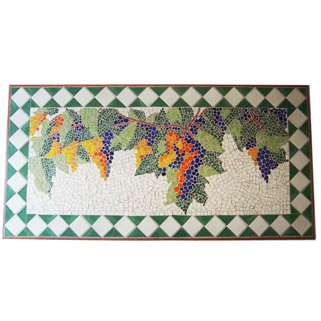 Tuscan Style Custom Vineyard Mosaic Kitchen Table - Image 3 of 3