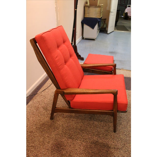 Mid-Century Modern Pearsall-Style Chair & Ottoman - Image 7 of 10