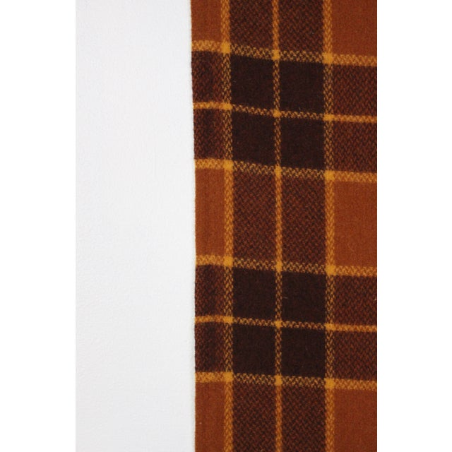 1970s 1960s Vintage Royal Robinwul Plaid New Zealand Wool Throw Blanket For Sale - Image 5 of 7