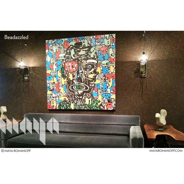 Beadazzled Flexible Glass Bead Wallcovering blazed a trail in the world of wallcovering design as the first of its kind....