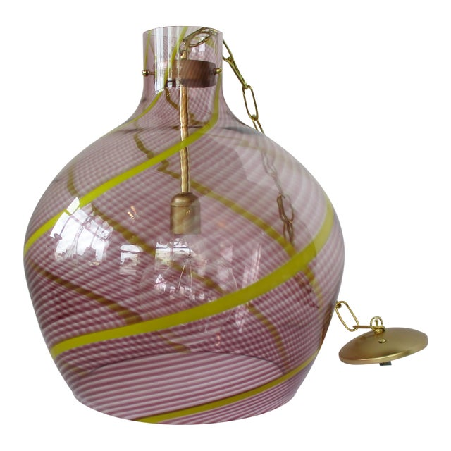 Oversize Italian Glass Pendant For Sale