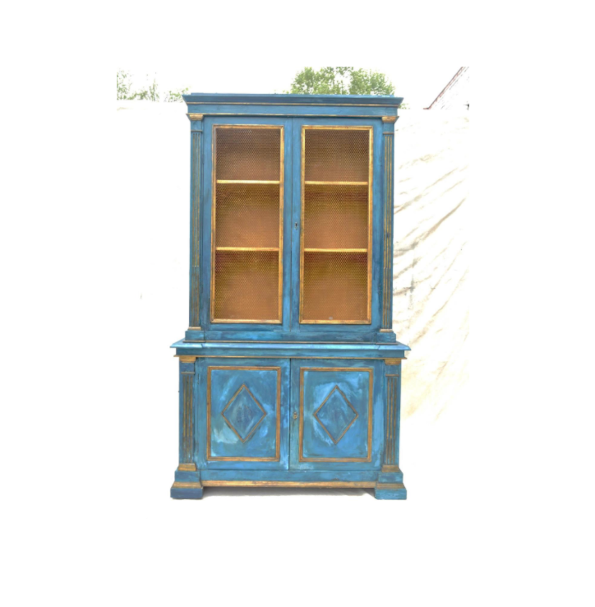 Mediterranean Blue Italian Cupboard   Image 2 Of 11