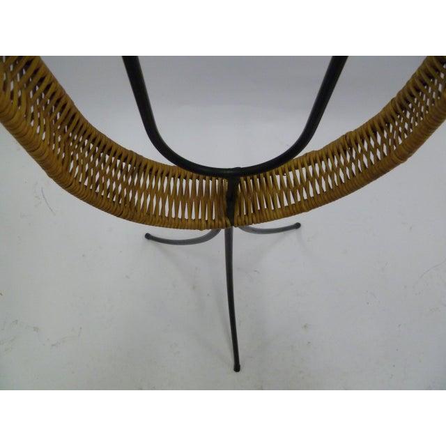 Modern Arthur Umanoff Iron / Rattan Standing Candelabra for Raymor For Sale - Image 9 of 12