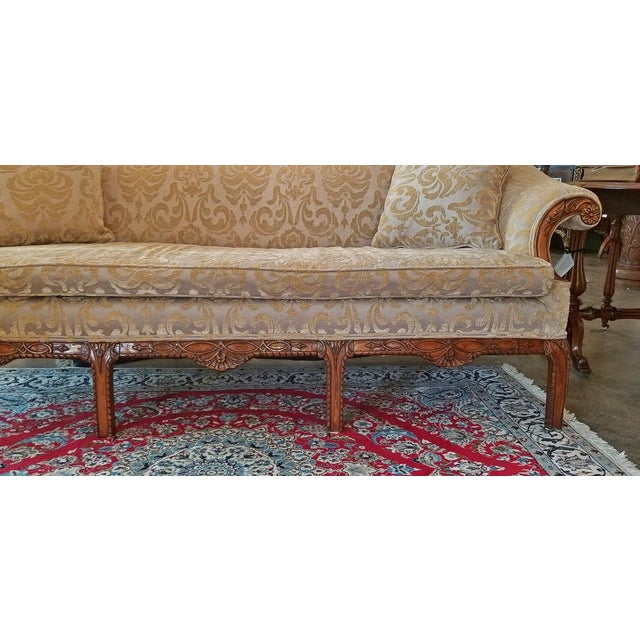 Wood 19c Chippendale Style Camel Back Sofa For Sale - Image 7 of 12