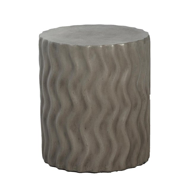 Contemporary Cement Waves Side Table For Sale - Image 3 of 3