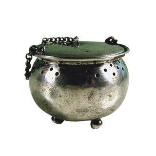 Sterling silver Kettle Tea Strainer For Sale