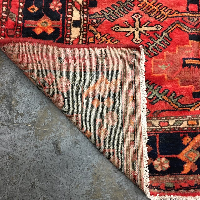 Hand Woven Wool Persian Rug - 4′3″ × 7′ For Sale In San Francisco - Image 6 of 7