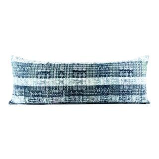 Beat Indigo Green Guatemalan Pillow Large Lumbar