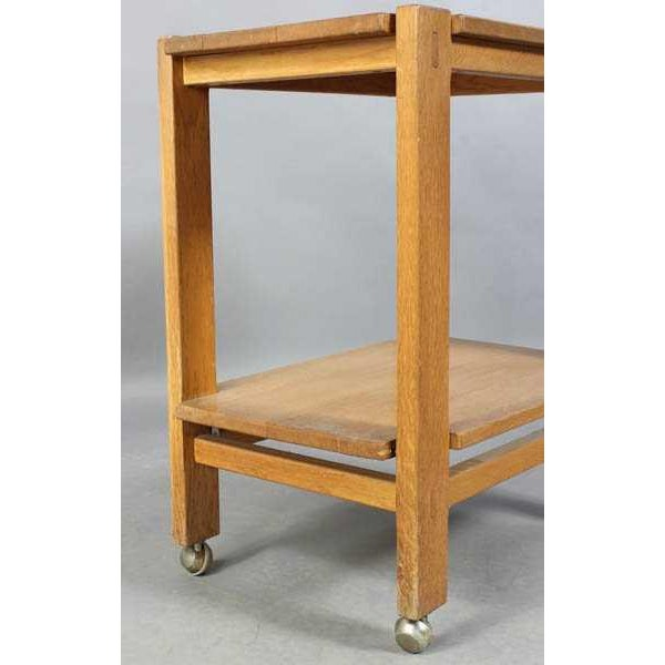 1950s Charlotte Perriand Mid-Century Modern Oak Serving Cart For Sale - Image 5 of 6
