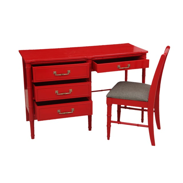 Henry Link Chinoiserie Desk & Chair - Image 1 of 6