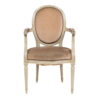 1930s Louis XVI Oval Back Armchair For Sale