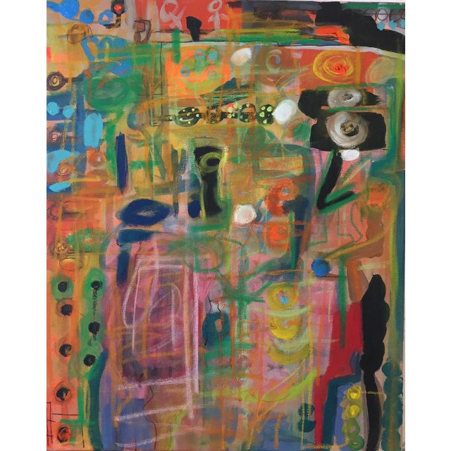 """Abstract """"Happiness"""" Abstract Mixed Media Painting by Shawn Phalen For Sale - Image 3 of 3"""