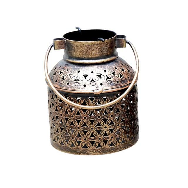 Art Deco Filigree Votive Lantern For Sale - Image 3 of 4