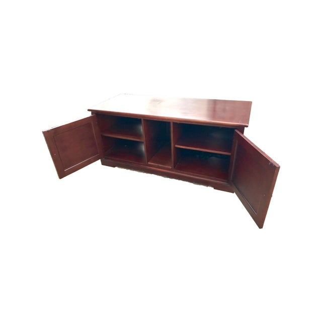 Solid Mahogany Contemporary Entertainment Console - Image 8 of 10