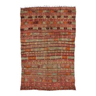 Boho Chic Vintage Berber Moroccan Rug in Pastel Colors For Sale