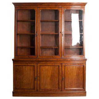 Mid 19th Century Mahogany Bookcase For Sale