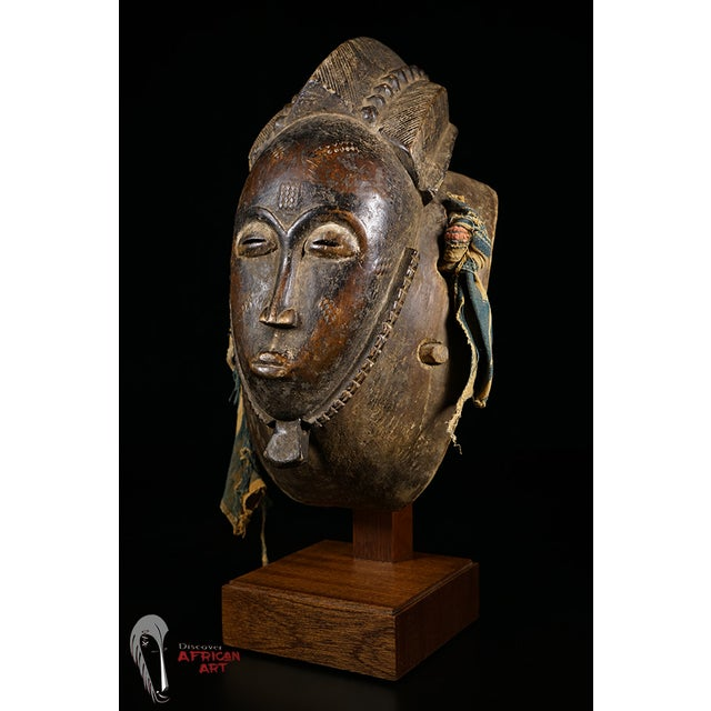 Baule African Tribal Portrait Mask - Image 2 of 10